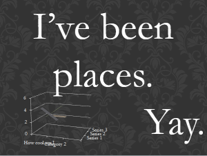 i've been places yay